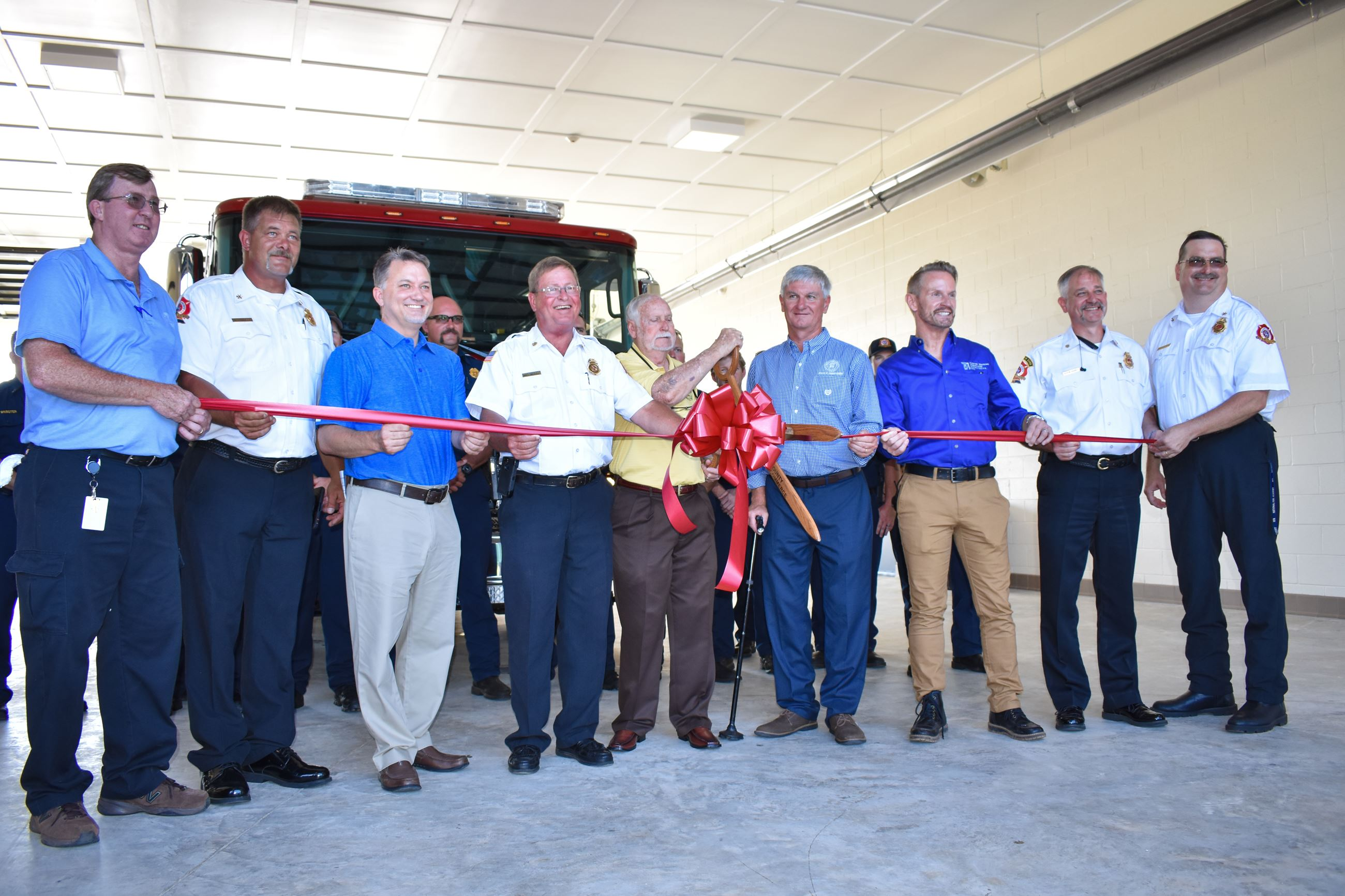 Officials cut ribbon at Fire Station #3