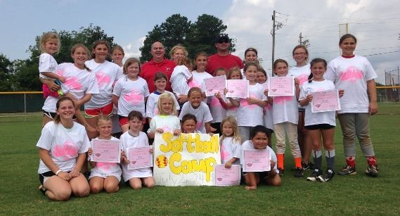 Softball Camp group photo