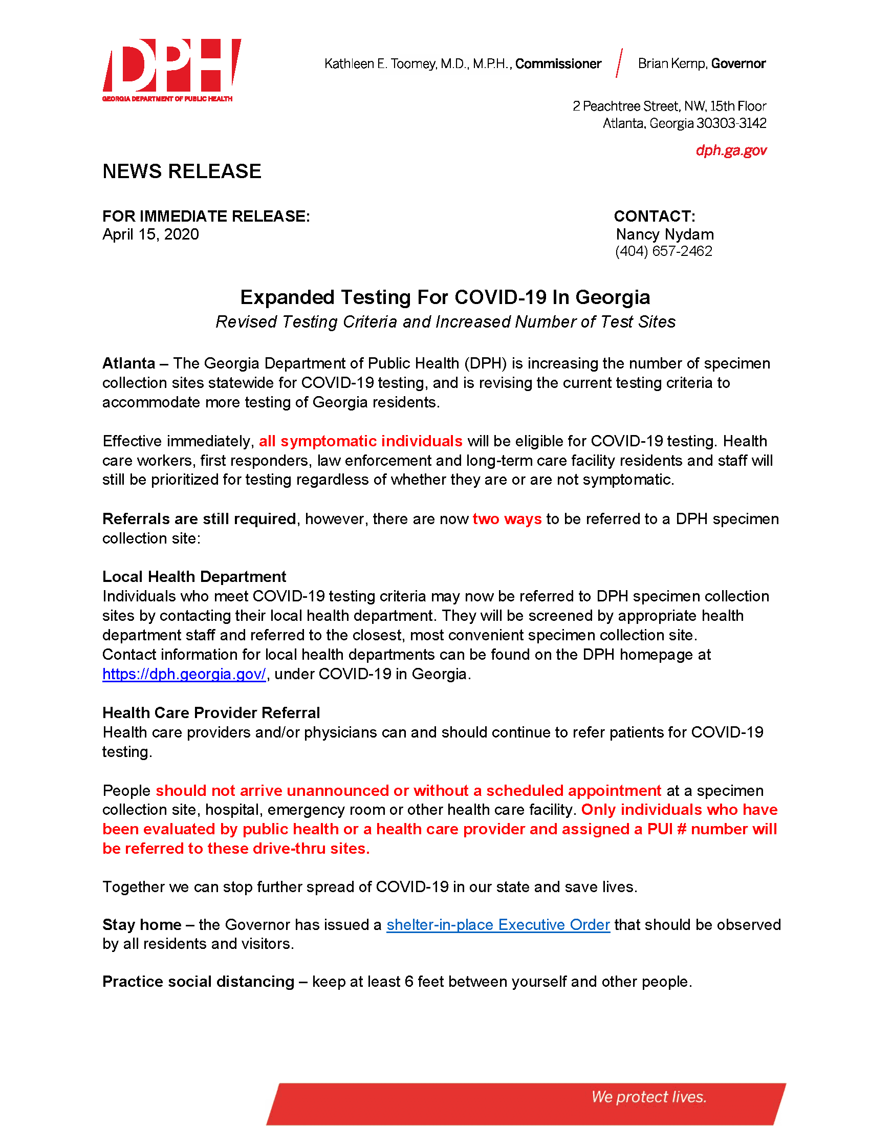 DPH News Release - Expanding COVID-19 Testing in Georgia_Page_1
