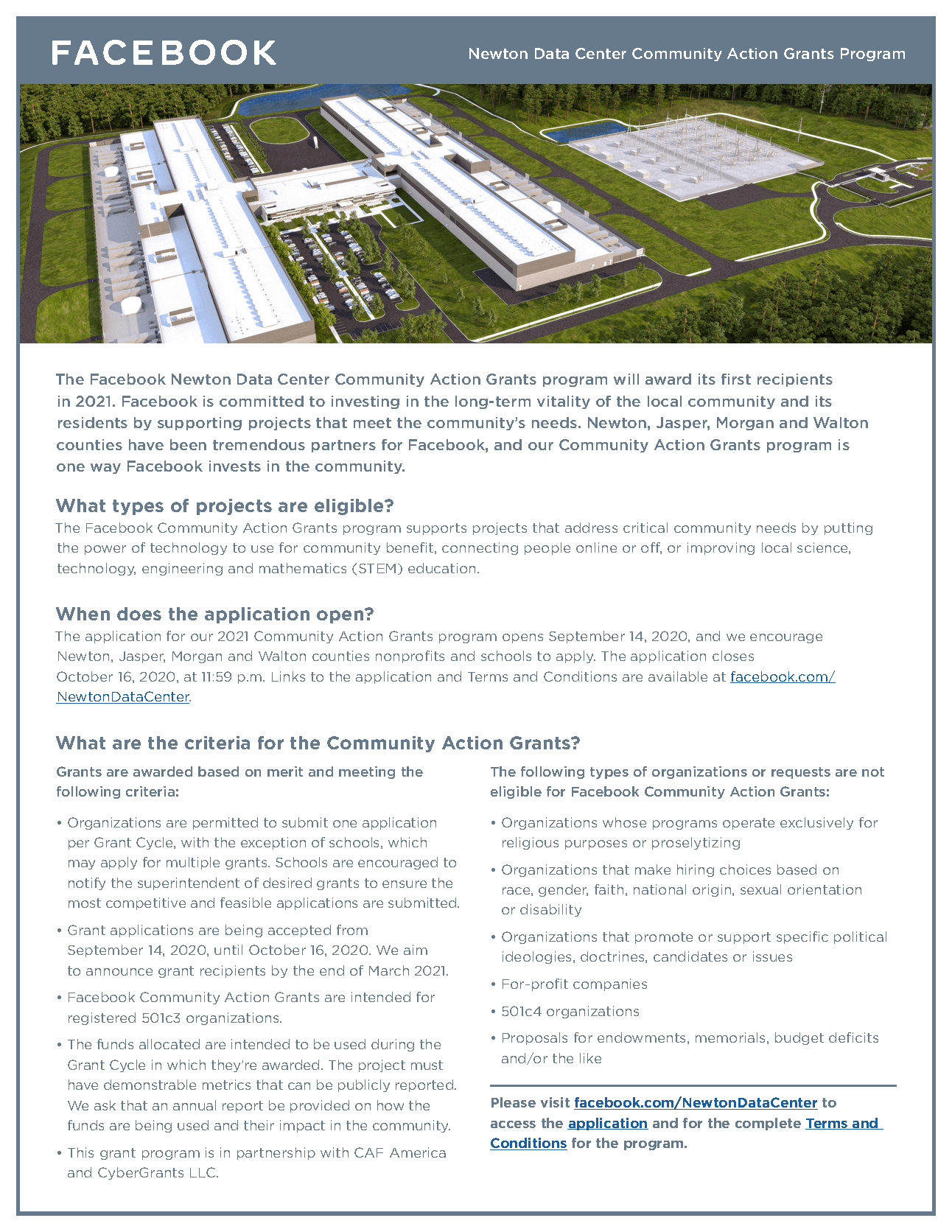 Newton Data Center CAG Onepager